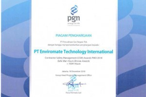 Congratulation ETI Contractor Safety Management (CSM) AWARD PMO 2018